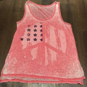 Lol Vintage Red and White Tank Top